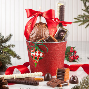 quick view holiday wishes gift basket - Christmas Candy Apples