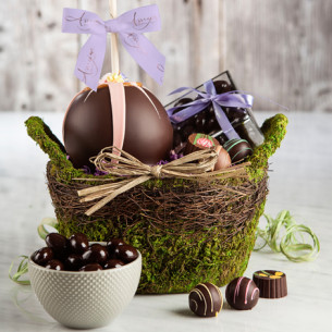 Easter caramel apples gourmet easter gifts spring candy apples quick view enchanted garden gift basket negle Images