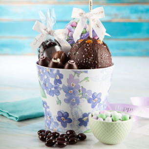 Spring gift baskets easter gift baskets amys gourmet apples quick view hydrangea gift basket negle Image collections