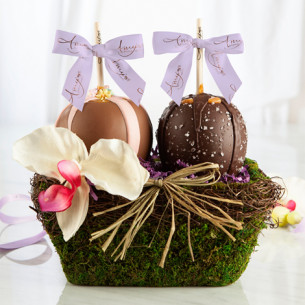 Spring gift baskets easter gift baskets amys gourmet apples quick view two apple garden gift basket negle Image collections