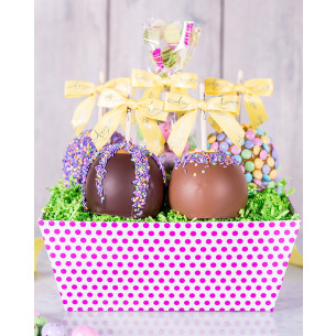 Easter caramel apples gourmet easter gifts spring candy apples quick view easter gift tray negle Gallery