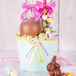 Easter caramel apples gourmet easter gifts spring candy apples quick view hippity hop caramel apple gift basket negle Gallery