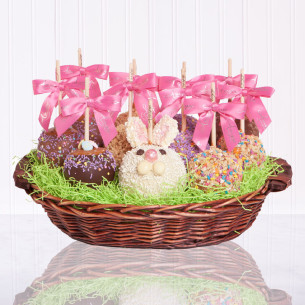 Apple gift baskets candy apple gift baskets quick view petite apple easter gift basket negle Choice Image