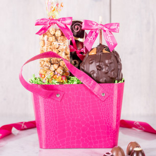 Chocolate gift packs chocolate gift basket ideas quick view pink purse gift bag negle Image collections