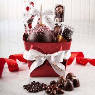 Valentines day gift baskets romantic gift baskets quick view red foil gift basket sciox Image collections