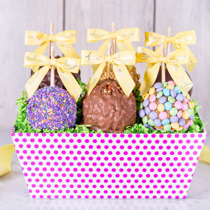 Spring gift baskets easter gift baskets amys gourmet apples quick view spring six petite apple gift tray negle Images