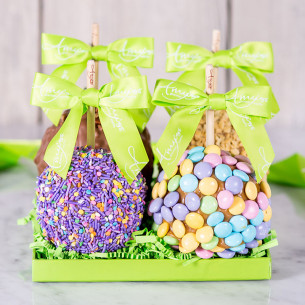 Easter caramel apples gourmet easter gifts spring candy apples quick view spring petite 4 apple gift tray negle Choice Image