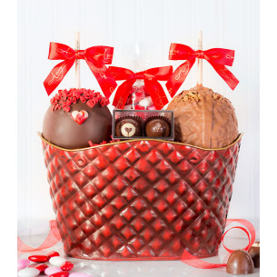 Valentines day gift baskets romantic gift baskets quick view sweet elegance valentine basket negle Images