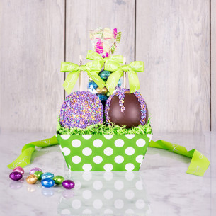 Easter caramel apples gourmet easter gifts spring candy apples quick view two apple easter gift tray negle Choice Image