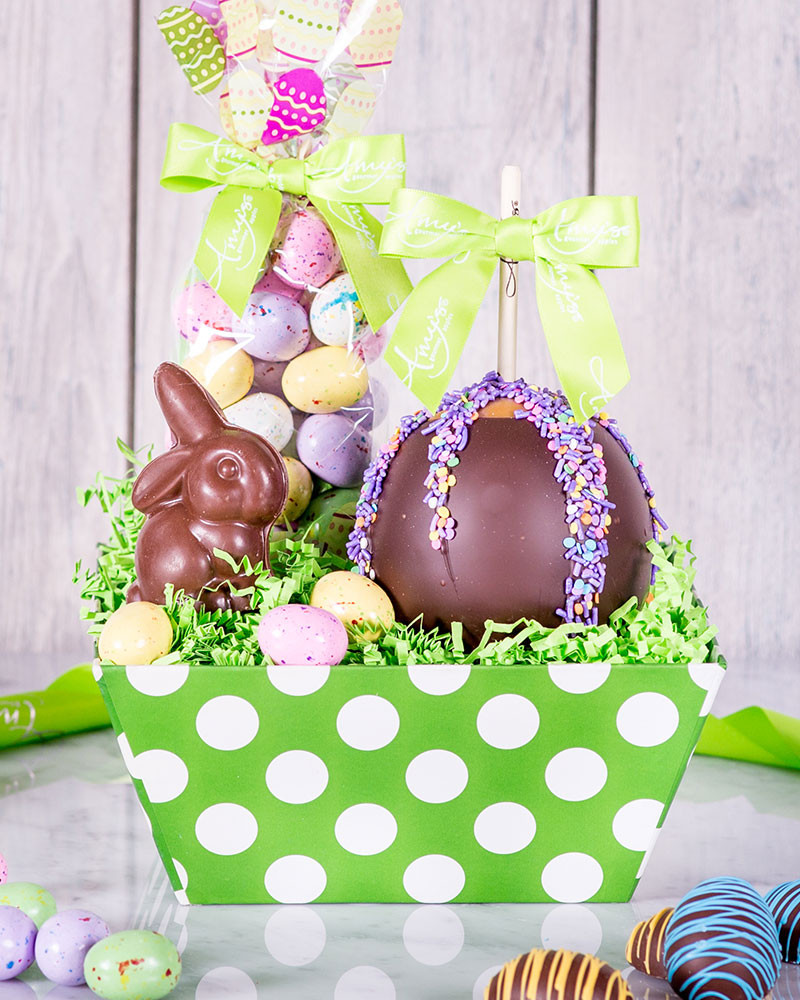 Chocolate bunny easter basket gourmet chocolate easter basket negle Images