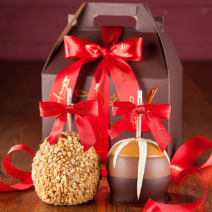 quick view red gable gift pack - Christmas Candy Apples