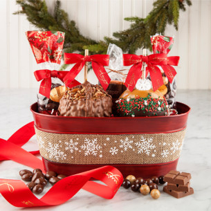 Christmas Candy Gifts.Christmas Candy Apples Christmas Gourmet Gift Basket