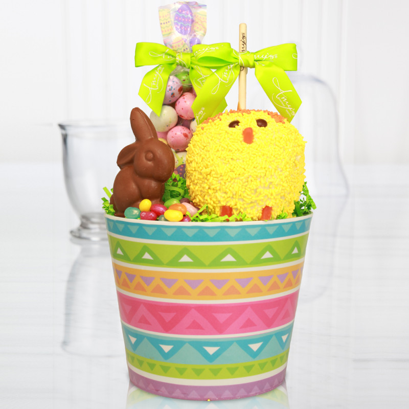 Gourmet easter basket send easter baskets online easter egg delight caramel apple gift basket negle Images
