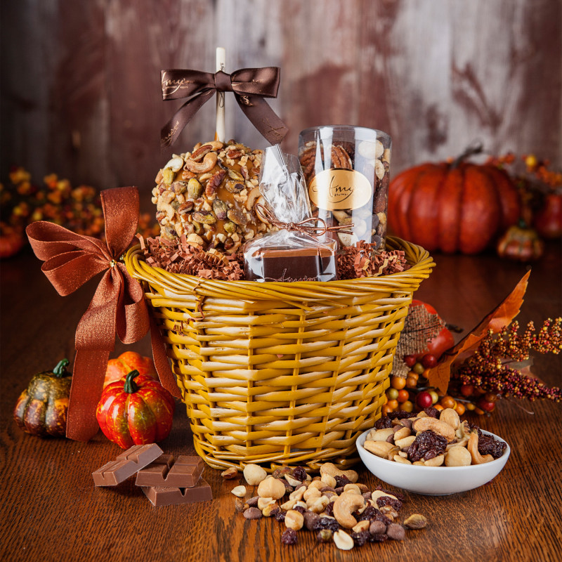 Nut Gift Basket Gourmet Candy Gifts Amy S Gourmet Apples